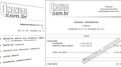 Balanço Patrimonial e DRE (Excel)