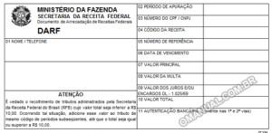 DARF – Documento de Arrecadação de Receitas Federais (Excel)