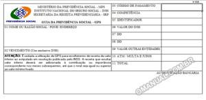 Guia da Previdência Social - GPS INSS (Excel)