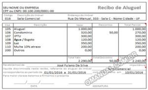 Recibo de Aluguel (Excel)