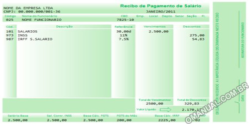 Holerite - Recibo de Salário (Excel)